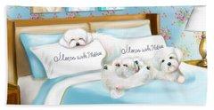 Sleeps With Maltese Beach Sheet