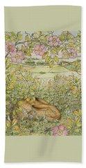Sleepy Bunny Beach Towel