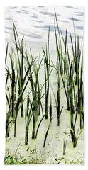 Slender Reeds Beach Towel