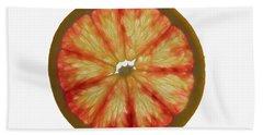 Slice Of Grapefruit, Backlit Beach Towel
