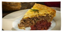Slice Of Meat Pie Tourtiere Beach Towel