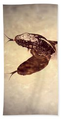 Beach Towel featuring the photograph Slithering Reflections by Melanie Lankford Photography