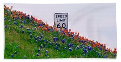 Slow Down And Smell The Bluebonnets Beach Sheet