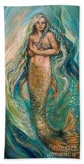 Slumbering Mermaid Beach Towel
