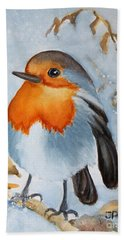 Small Bird Beach Towel by Inese Poga