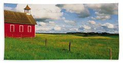 Small Red Schoolhouse, Battle Lake Beach Towel