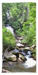 Smith Creek Downstream Of Anna Ruby Falls - 3 Beach Towel by Gordon Elwell