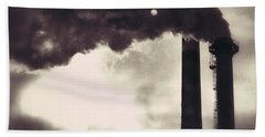 Smoke Stack Beach Towel