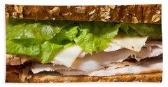 Smoked Turkey Sandwich Beach Towel by Edward Fielding