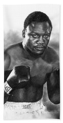 Beach Towel featuring the drawing Smokin' Joe by Peter Williams