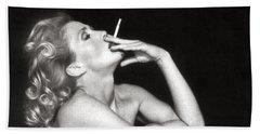 Smoking Nude  Beach Sheet