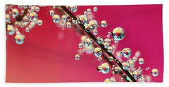 Smoking Pink Drops II Beach Towel by Sharon Johnstone