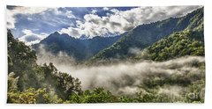 Smoky Mountain Chimney Tops Beach Sheet