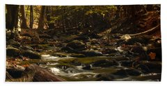 Smoky Mountain Stream Beach Sheet by Patrick Shupert