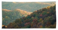 Beach Sheet featuring the photograph Smoky Mountain View by Patrick Shupert