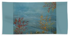 Beach Towel featuring the painting Smoky Mountains In Autumn by Judith Rhue