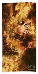 Smoky The Voodoo Clown Doll  Beach Towel