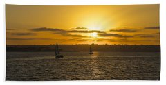 Smooth Sailing Beach Towel by Claudia Ellis
