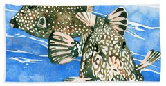 Smooth Trunkfish Pair Beach Towel