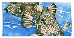 Smooth Trunkfish Pair Beach Sheet