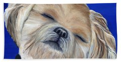 Beach Towel featuring the painting Snickers by Michelle Joseph-Long