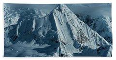 Snow Covered Peaks Of The Antarctic Beach Towel