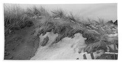Snow Covered Sand Dunes Beach Towel