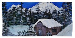 Snow Falling On Cedars Beach Towel
