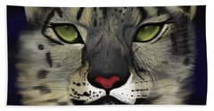 Snow Leopard - The Eyes Have It Beach Towel
