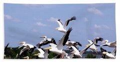 Snowbirds Heading South Beach Towel