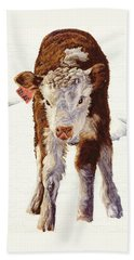 Country Life Winter Baby Calf Beach Towel