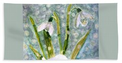 Beach Sheet featuring the photograph Snowdrops A Promise Of Spring by Angela Davies