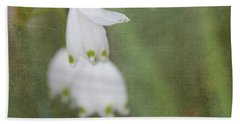 Snowdrops Beach Towel