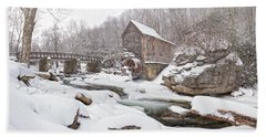 Snowglade Creek Grist Mill 1 Beach Towel