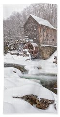 Snowglade Creek Grist Mill Beach Towel