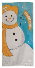 Snowman University Of Tennessee Beach Towel