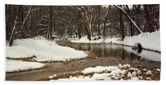 Snowy Creek Beach Towel