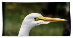 Snowy Egret Profile Beach Towel