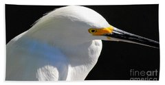 Snowy Egret Beach Towel by Quinn Sedam