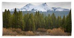 Snowy Fall In Yosemite Beach Towel by David Millenheft