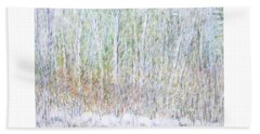 Snowy Landscape In New Hampshire Beach Towel