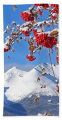 Beach Towel featuring the photograph Snowy Mountain Ash by Stanza Widen