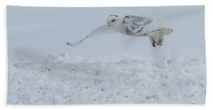 Beach Towel featuring the photograph Snowy Owl #1/3 by Patti Deters