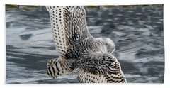Snowy Owl Wingspan Beach Towel