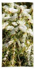 Snowy Pines Beach Towel