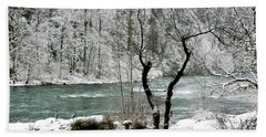 Beach Towel featuring the photograph Snowy River And Bank by Belinda Greb