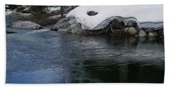 Beach Towel featuring the photograph Snowy River Bend by Bobbee Rickard