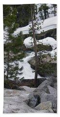 Beach Towel featuring the photograph Snowy Sierras by Bobbee Rickard