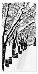 Snowy Walk Beach Towel