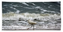Snowy White Egret Beach Towel by Kim Pate